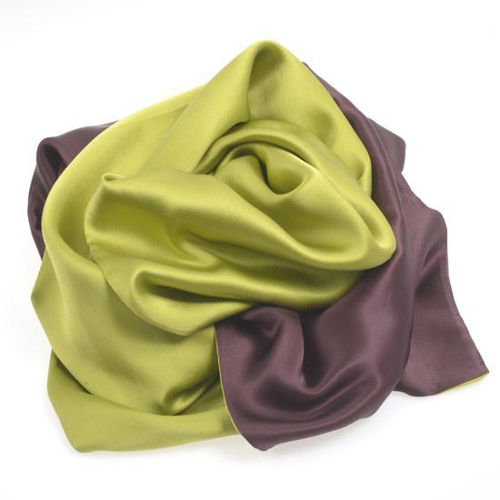 Echarpe vert marron