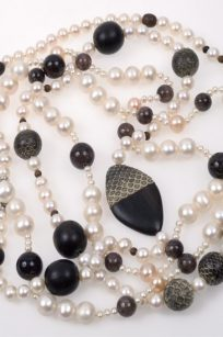 Collier perles agate