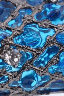 Broche Lézard bleu detail