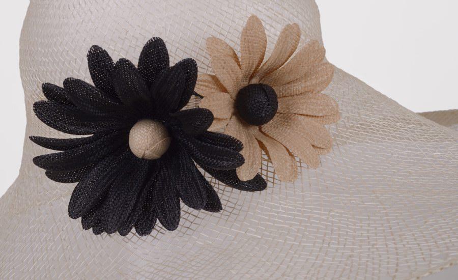 Chapeau capeline marguerites detail 2