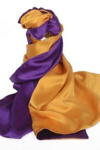 Echarpe jaune violet