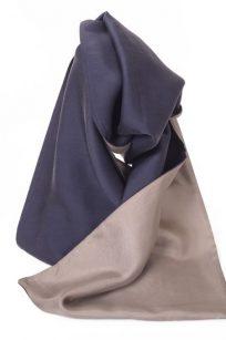 Echarpe gris marron