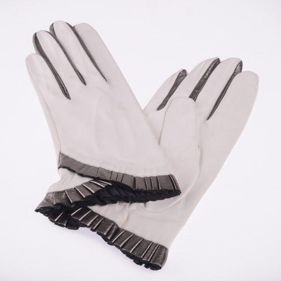 Gant blanc collerette
