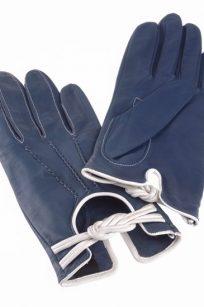 Gant bleu marine et blanc