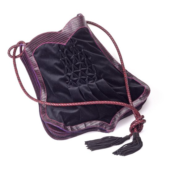Sac en croco bordeaux