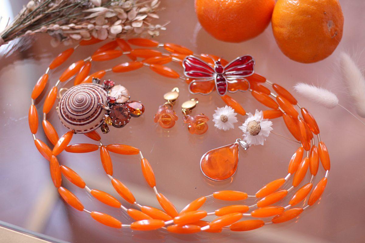 bijoux orange